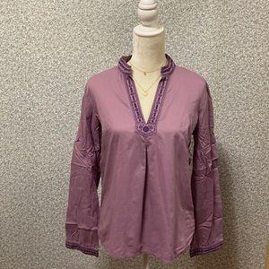 ❤️Calvin Klein Purple Cotton V-Neck Blouse M❤️